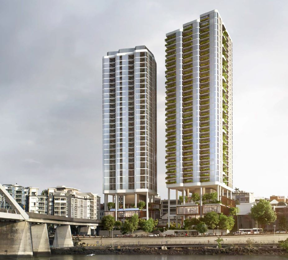 Approved – Twin Residential Towers – Quay Street, Brisbane City