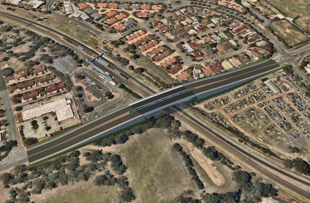 Rail Overpass Design – Beams Road, Carseldine