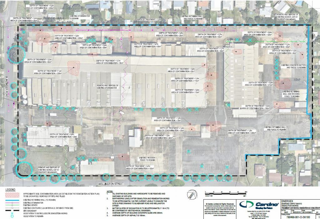 Excavation and Filling (Remediate Contaminated land) – 46 Blinzinger Road and 118 Wellington Street, Banyo