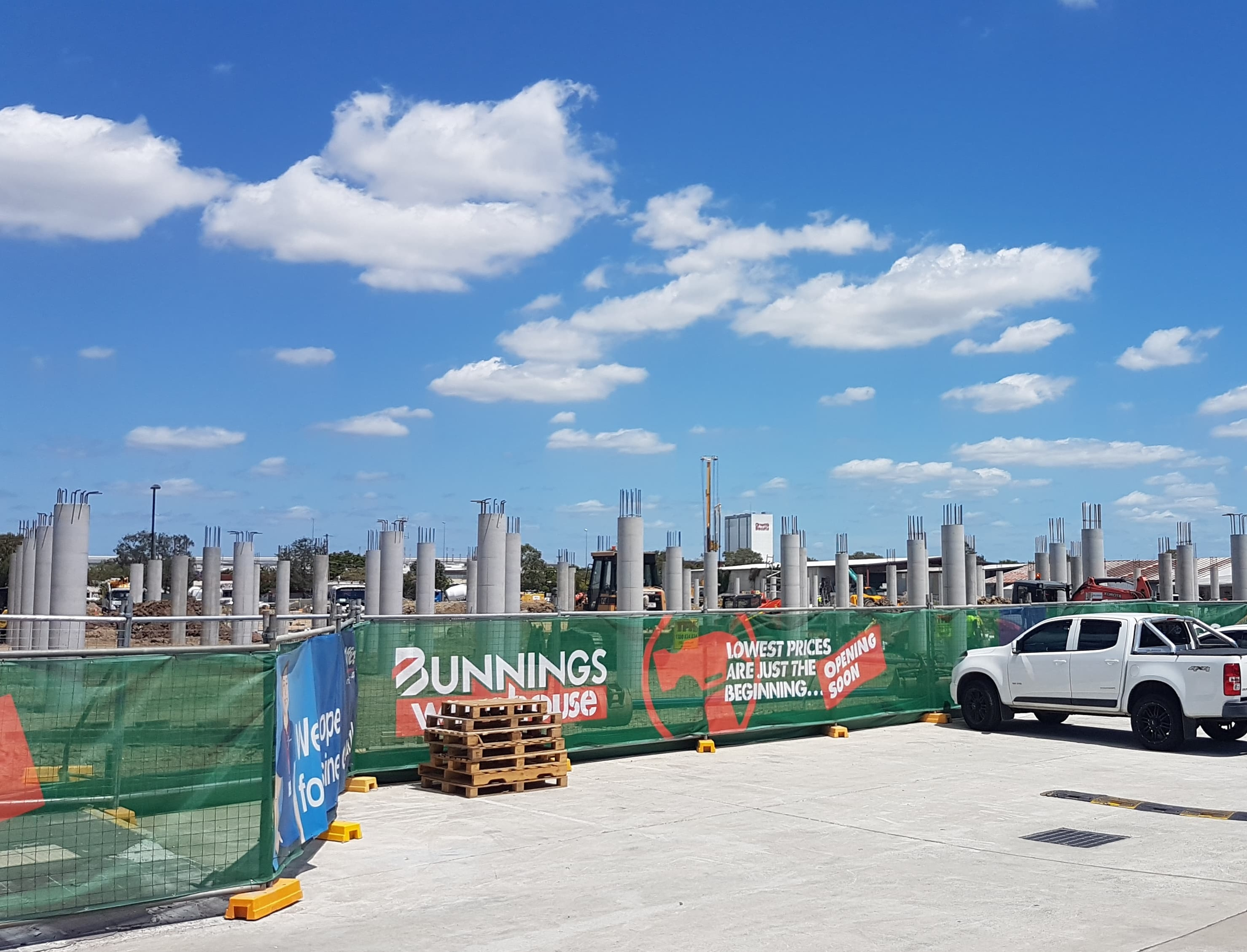 Construction Commences - Bunnings Warehouse, Virginia