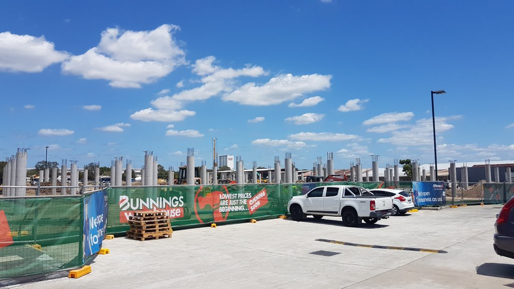 Construction commences - Bunnings Warehouse, Virginia - Your