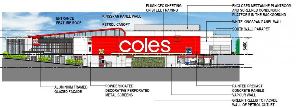 Amended Plans Coles Supermarket Cafe Liquorland And