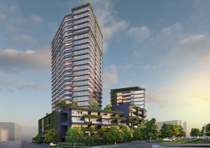 283 High Density Multiple Dwellings – 2 Residential Towers – 43 Evelyn Street and 15 Gordon Street, Newstead