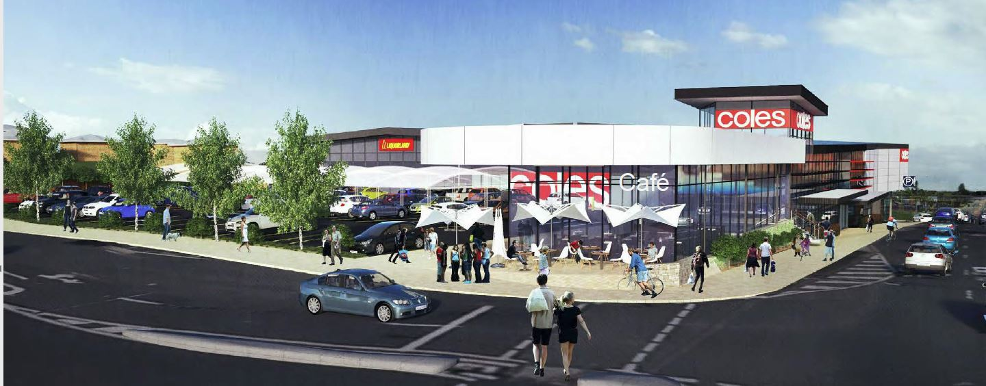 Amended Plans - Coles Supermarket, Cafe, Liquorland, and Service Station Approval - Wallin Street, Strathmore Street and Gympie Road, Kedron