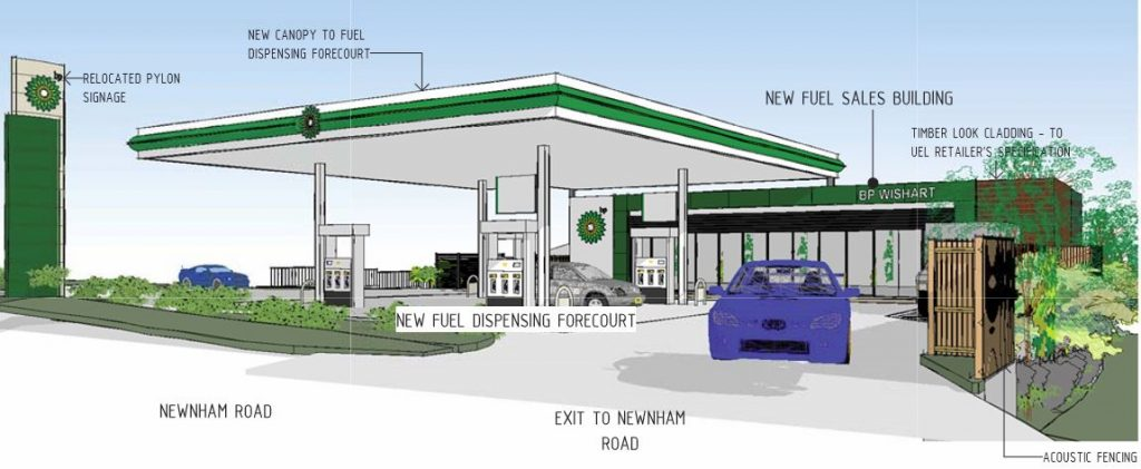 Bp Service Station Redevelopment For Newnham Road Wishart