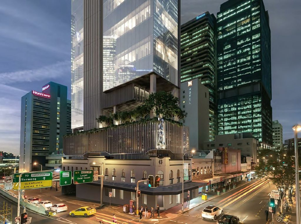 Council Approved – Commerical Tower & Grosvenor Hotel Redevelopment – 320 George Street, Brisbane City