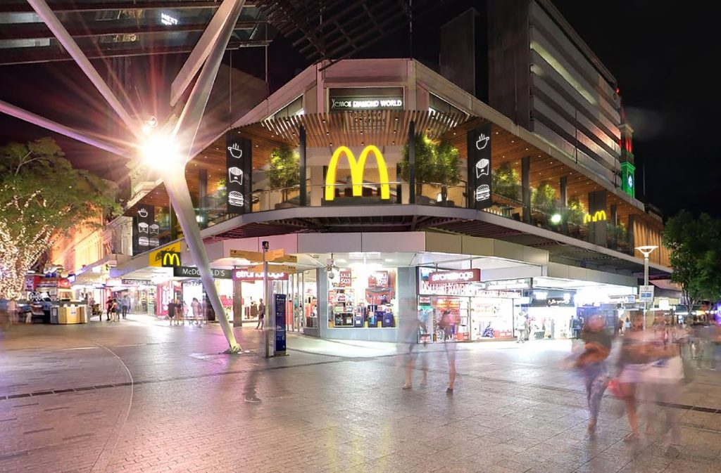 Now Opened – McDonald's Restaurant – Queen Street and Albert Street, Brisbane