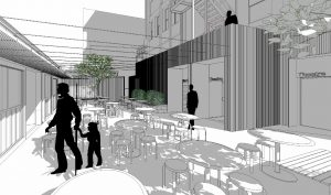 Laneway Bar, Container Restaurants & Metro Arts Theatre Entrance – Edward Street, Brisbane City