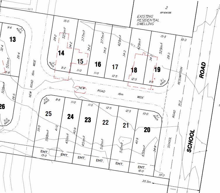 33 Lot Subdivision – 59 School Road, Rochedale