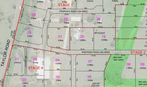 Subdivision – 84 to 122 Taylor Road, Thornlands