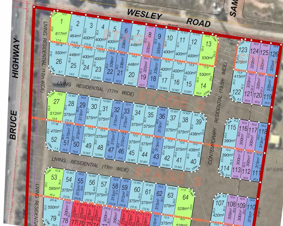 130 Lot Subdivision & Park – Wesley Road and Brays Road, Griffin