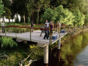 Fishing Platform – Bulimba Creek in Carmichael Park, Tingalpa