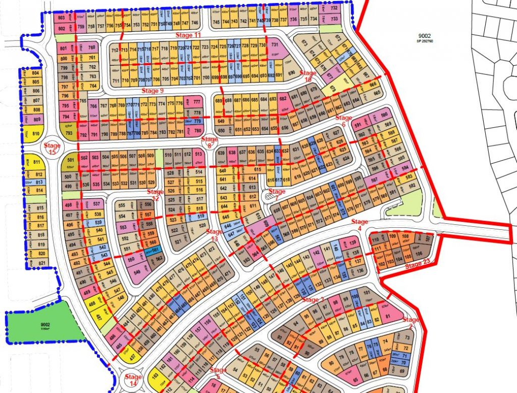 821 Lot Subdivision – Springfieldview Village 2 – Springfield, Ipswich