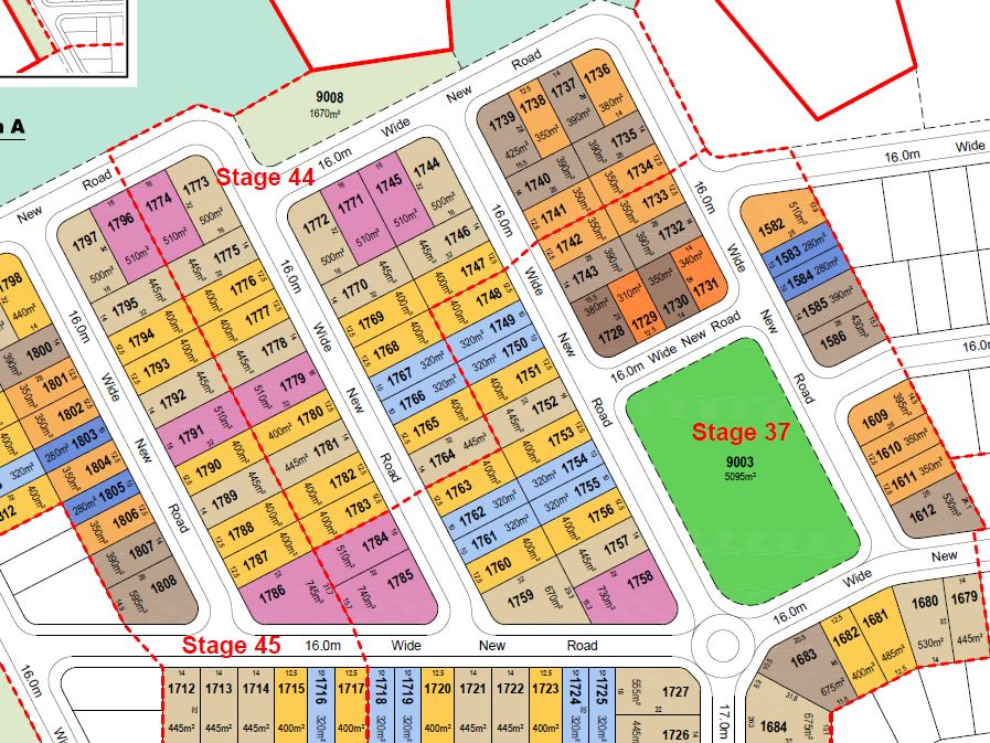 1,052 Lot Subdivision – Springfieldview Village 3 – Springfield, Ipswich