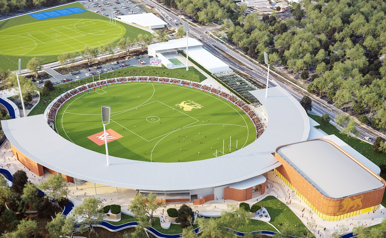 $70 Million Brisbane Lions Stadium & Training Facility - Springfield Central, Ipswich