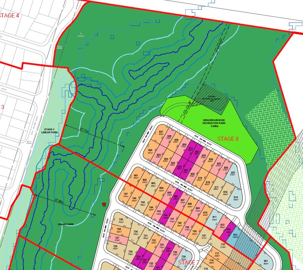 244 Lot Subdivision, Linear & Neighbourhood Parks – Trigona Drive, Ripley