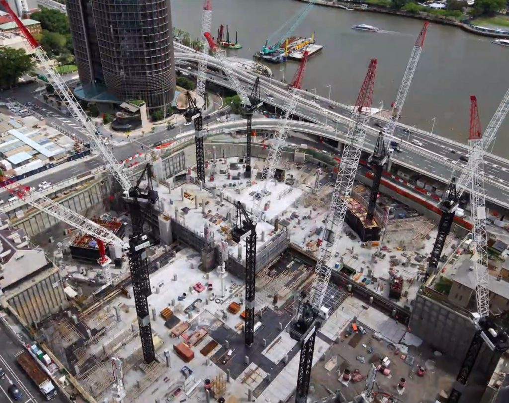 Construction Progress  – $3.6 Billion Queen's Wharf, Brisbane City