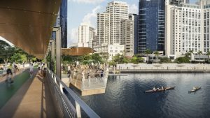 $190m Pedestrian Bridge – Kangaroo Point