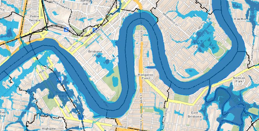 Flood Map Brisbane Flood Mapping Update 2016   Brisbane City Council   Your Neighbourhood Flood Map Brisbane
